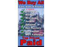 WANTED ALL CARS VANS AND TRUCKS BUSES £100 £100