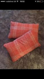 Ikea Karlstad orange cushions