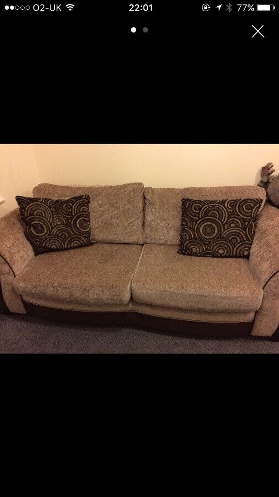 3 seat sofa bed and cuddle chair