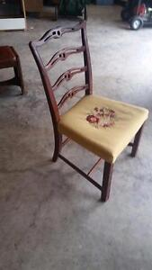 4 Vintage Ladder Backed Chairs for Sale