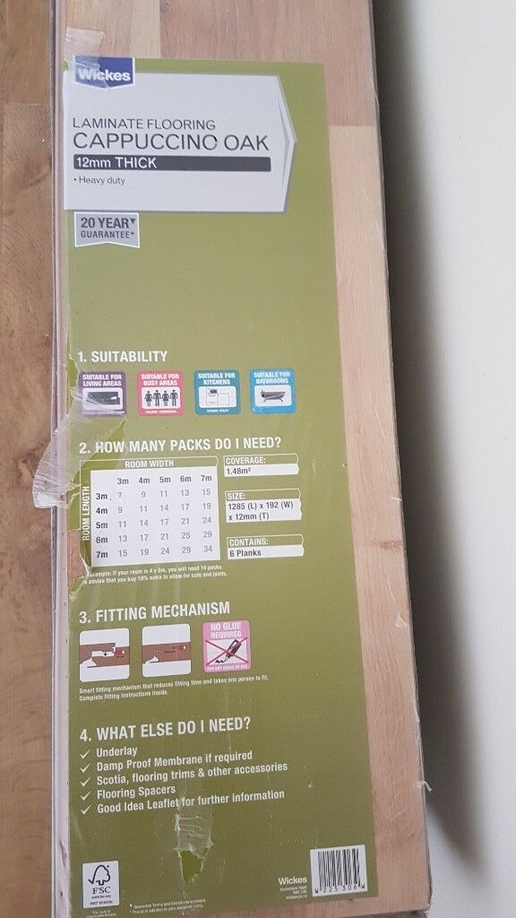 Wickes Heavy Duty cappuccino oak laminate flooring. Can be ...