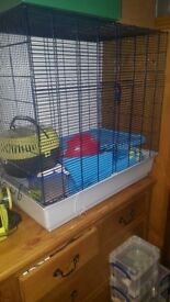 Large rats cage for Sale with shelves and accesories