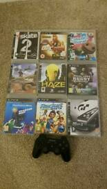 PS3 controller and games