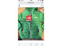 Green north face coat