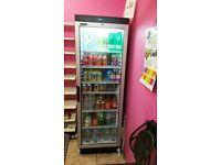 TEFCOLD FS1380 GLASS DOOR DRINKS & FOOD MERCHANDISER DISPLAY COOLER upright FRIDGE