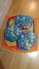 Ballpit and 3 bags of balls