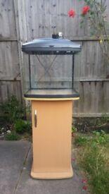 fish tank with cupboard 48L