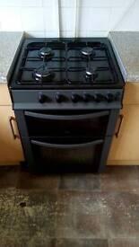 Black gas cooker 60cm wide