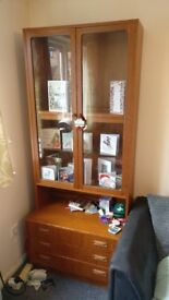 Quality wood display cabinet -ALL PROCEEDS TO ALZHEIMER'S SOCIETY-