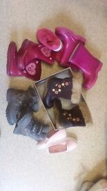Size 5 infant girls shoes and boots bundle