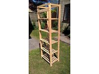 Wooden pine portable storage rack for shed or garage
