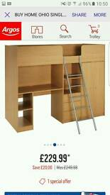 High Sleeper Cabin Bed with Storage