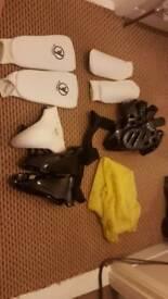 Karate training gear used
