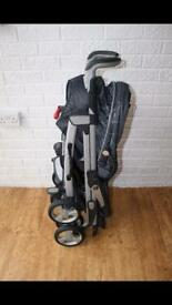 Silver Cross 3d charcoal pushchair and pram