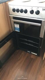 Silver /grey Becko freestanding electric cooker
