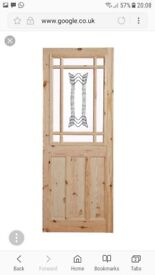 2 PANEL KNOTTY PINE GLAZED door