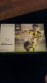 Xbox one s with Fifa 17 sealed in box