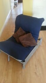 single futon chair / bed and mattress