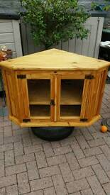 Hand made solid tv unit