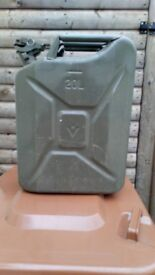 Metal jerrycan ideal for carrying petrol or diesel safely
