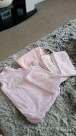 Baby girls towels & sleeping bags