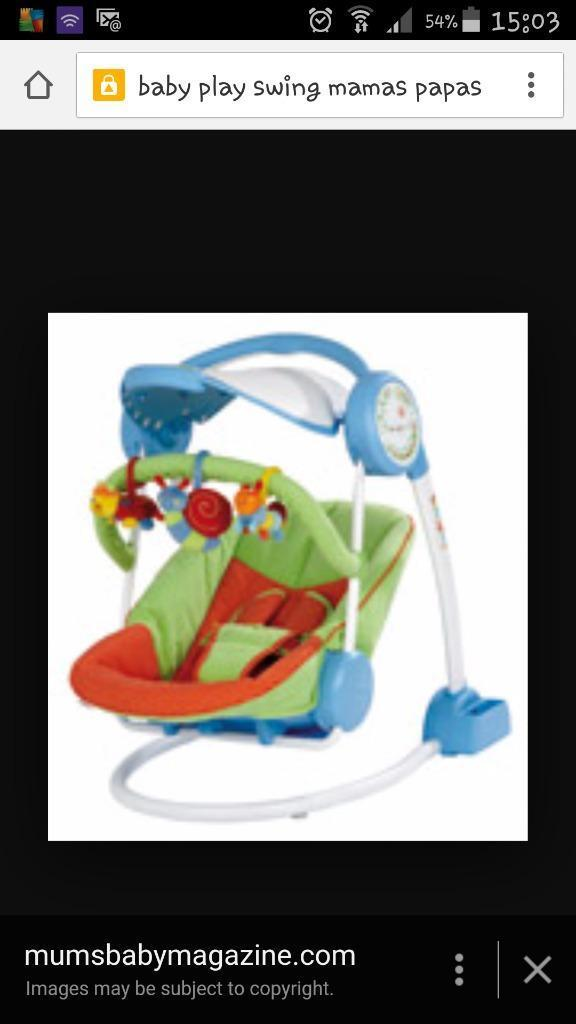 Mamas And Papas Baby Swing In Fordingbridge Hampshire