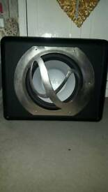 Infinity sub for car and then the 2 kustom speakers and a Panasonic stereo integrated amplifier