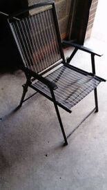 4 folding chairs patio, camping