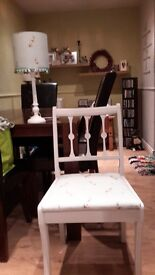 Up cycled matching chair and lamp