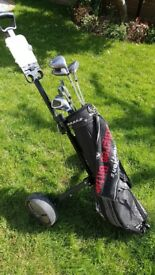 Mens golf clubs with bag and trolley - starter set