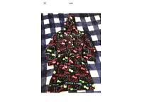 New girls black hello kitty dressing gown robes