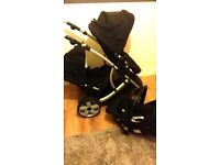 Kidz kargo duellette double tandem pushchair black