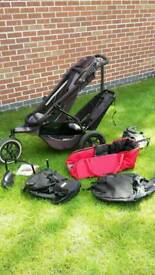 Phil n Teds double pushchair/buggy + extras