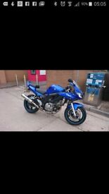 Sv650 for sale blue. Mot till June low mileage needs a new rear tyre comes with lower fairings
