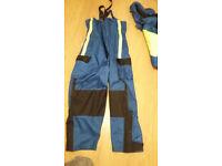 mens medium survival suit for sea fishing.
