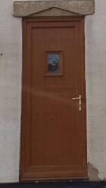 Light oak upvc front door 910x2010