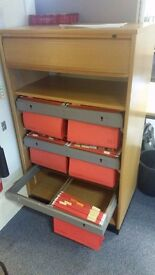 FREE - Wooden file cabinet with sliding drawers. There are 2 available