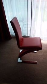 4 Z chrome dining room chairs