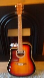 WESTFIELD ACOUSTIC/ELECTRIC GUITAR LEFT HANDED