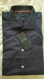 Brand new Armani jeans fitted shirt blue XL