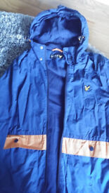 Lyle and Scott blue jacket size small would suit teenage boy