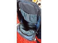Bike rucksack - ventilated back