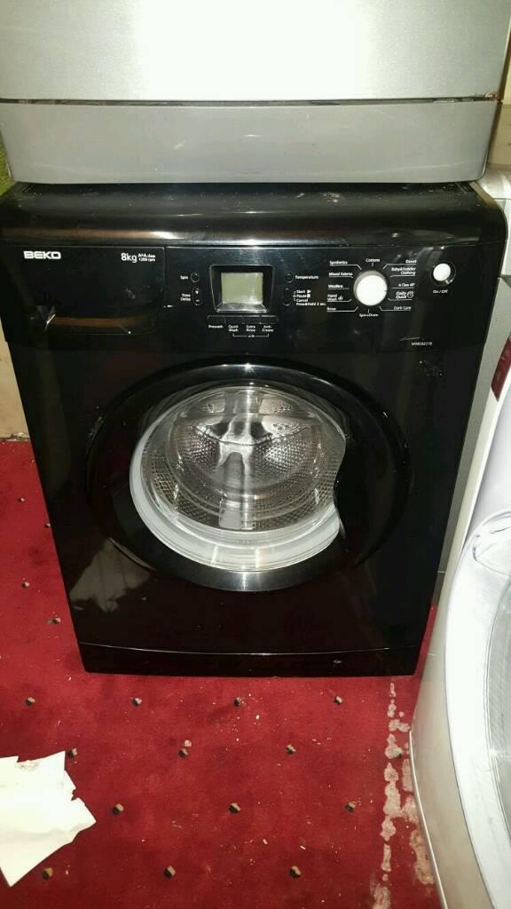 Black beko washing machine 8kg 1200 spin £150 delivered