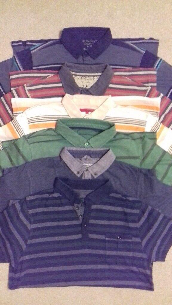 16 Mens Polo Shirts - Large