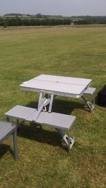 Folding camping/picnic table and seats