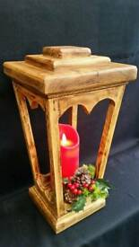 Rustic Upcycled Reclaimed Wood Lantern Chistmas