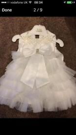 Bridesmaid/christening dress ivory size 1