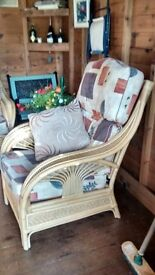 Cane Furniture - Sofa, two chairs & table!- immaculate condition!