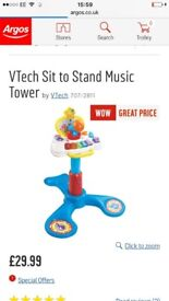 V tech sit to stand music centre