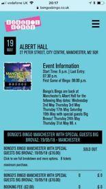 Bongo Bingo Manchester 19/05/2018